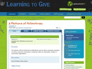 Helping Ourselves: Why Philanthropy Works Lesson Plan