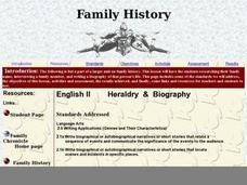Heraldry and Biography Lesson Plan