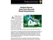 Herbert Hoover: Iowa Farm Boy an World Humanitarian Lesson Plan