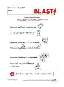 Here Comes the March! Worksheet
