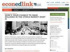 Here's Your Chance to Make Millions in the Stock Market - Part 2 Lesson Plan