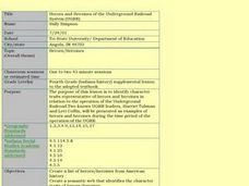 Heroes and Heroines of the Underground Railroad System (UGRR) Lesson Plan