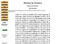 Heroes in Science Worksheet