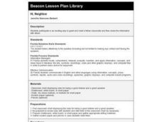 Hi, Neighbor Lesson Plan