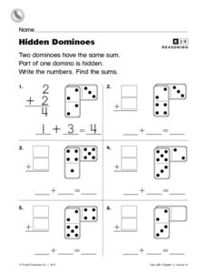 Hidden Dominoes Worksheet
