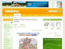 "Hidden Picture: Back-to-School ""Puzzle"" Lesson Plan"