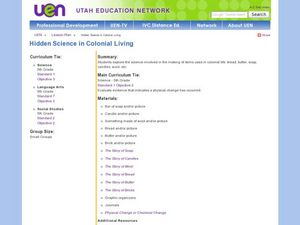 Hidden Science in Colonial Living Lesson Plan