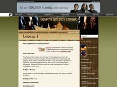 Hieroglyphs and Communication Lesson Plan