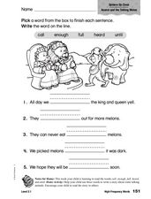 High Frequency Words: Spiders Up Close Worksheet