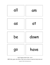 High-Frequency Words Worksheet