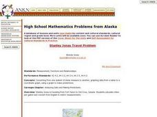 High School Mathematics Problems from Alaska: Stanley Jonas Travel Problem Lesson Plan