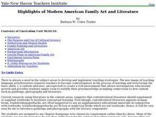 Highlights of Modern American Family Art and Literature Lesson Plan