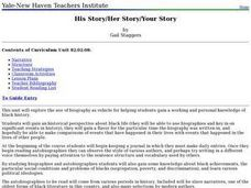 His Story/Her Story/Your Story Lesson Plan