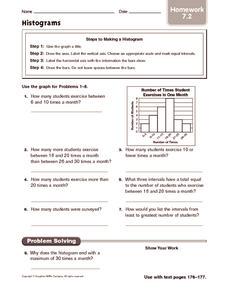 histograms homework 5th 6th grade worksheet lesson planet. Black Bedroom Furniture Sets. Home Design Ideas