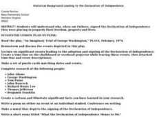 Historical Background Leading to the Declaration of Independence Lesson Plan