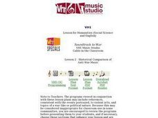 Historical Comparison of Anti-War Music Lesson Plan