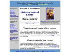 Historical Journal Entries Lesson Plan
