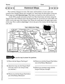 Historical Maps Worksheet