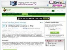 History and Literature on Trial Lesson Plan