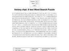 History Chpt. 6 Test Worksheet