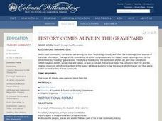 History Comes Alive in the Graveyard Lesson Plan