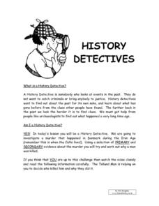 History Detectives Worksheet