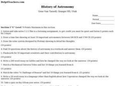 History of Astronomy Lesson Plan