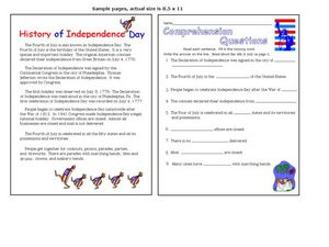 History of Independence Day Worksheet