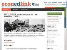 History of Monopolies in the United States Lesson Plan