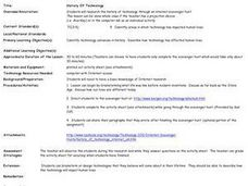 History Of Technology Lesson Plan