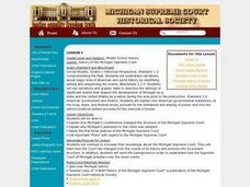History of the Michigan Supreme Court Lesson Plan