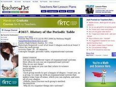 History of the Periodic Table Lesson Plan