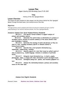 History Of The Star Spangled Banner 8th Grade Lesson Plan