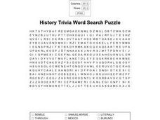 History Trivia Worksheet