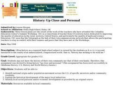 History - Up Close And Personal Lesson Plan