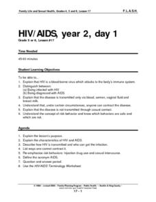 HIV/AIDS, Year 2, Day 1 Lesson Plan