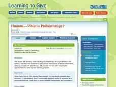 Hmmm-What is Philanthropy? Lesson Plan