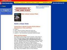 Hold a Class Vote Lesson Plan