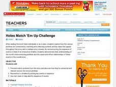 Holes Match 'Em Up Challenge Lesson Plan