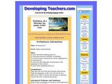 Holidays of a Lifetime for Under £500' Lesson Plan