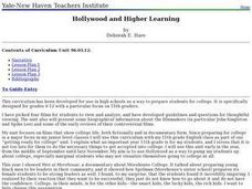 Hollywood and Higher Learning Lesson Plan