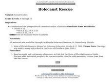 Holocaust Rescue Lesson Plan