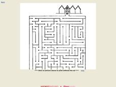 Home Maze Worksheet