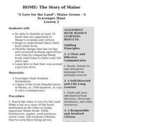 Home: The Story of Maine Lesson Plan
