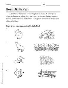 Homes are Habitats Worksheet