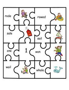 homophones puzzle 1st 2nd grade worksheet lesson planet. Black Bedroom Furniture Sets. Home Design Ideas