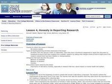 Honesty In Reporting Research Lesson Plan