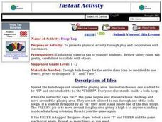 Hoop Tag Lesson Plan