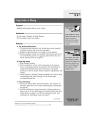 Hop Into a Story Lesson Plan