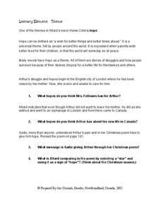 Hope Child Theme Worksheet